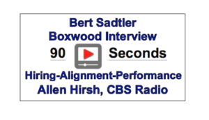 Hiring Alignment Performance video Boxwood Strategies | Bert Sadtler