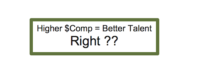 better talent = higher compensation?